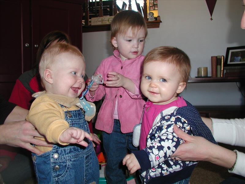 Melese, Molly and Paxton playing