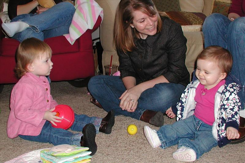 Anne and Melese entertaining Molly