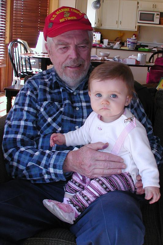 Molly and Great Grandpa
