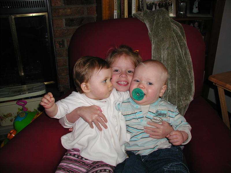 Maddy, Gavin and Molly during their fun day together
