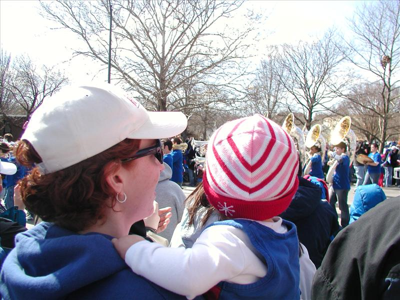 Molly watching the KU Band