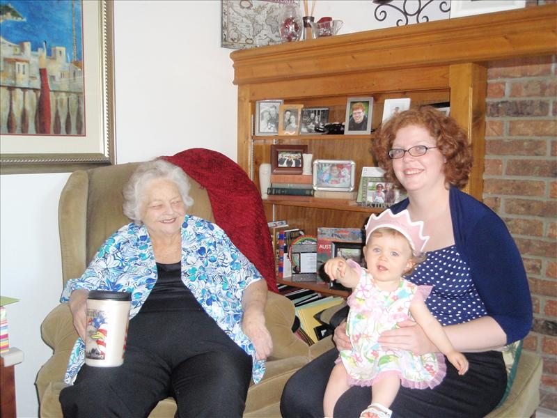 Molly with Great Grandma and Aunt Sarah