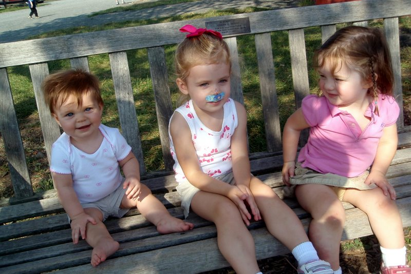 Girls picture at the Farmstead