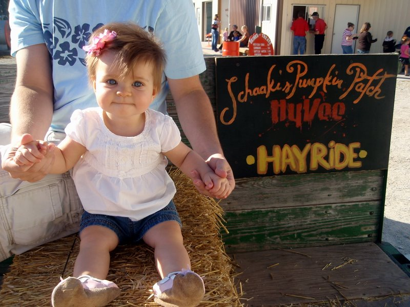 My first hay ride!