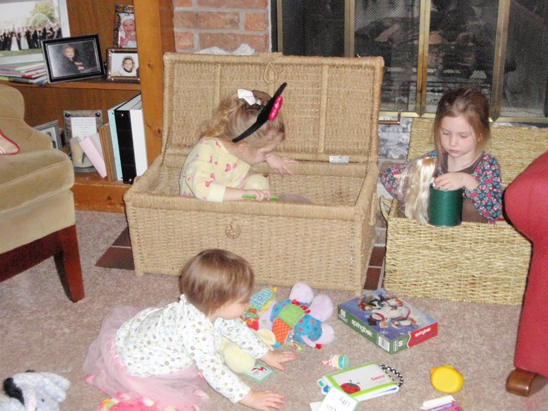 How do you keep a room clean? Have the kids play with toys in the toy box.