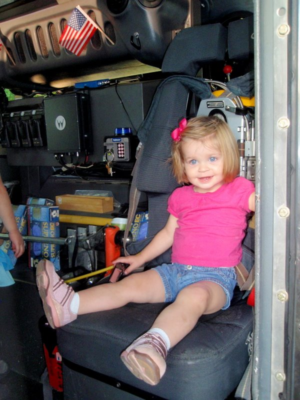 Charlotte loved the fire truck