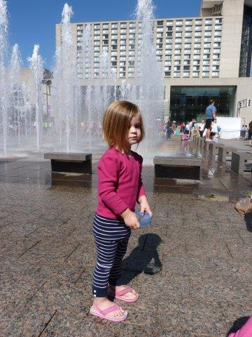 In front of the Crown Center Fountains pre-haircut