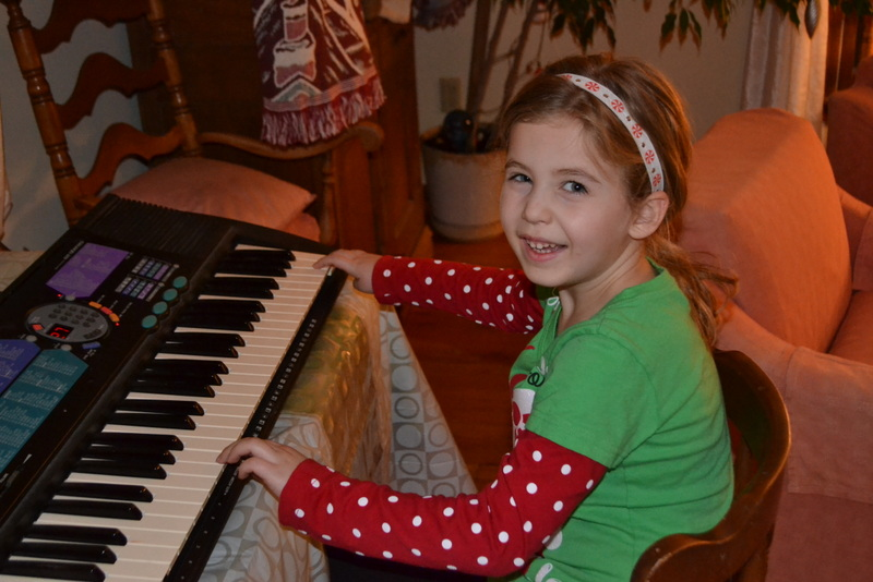Molly provided the music for the Randolph Christmas