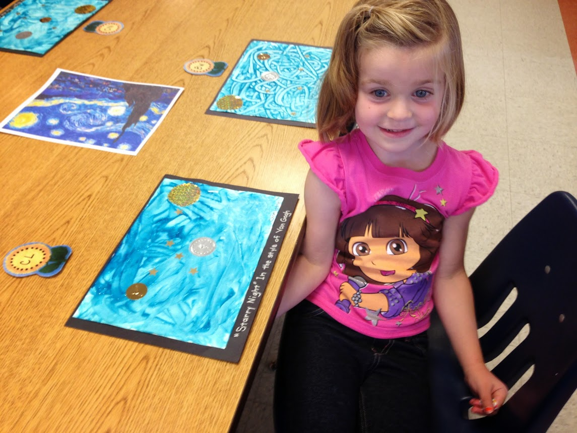 Charlotte and her Starry Night painting