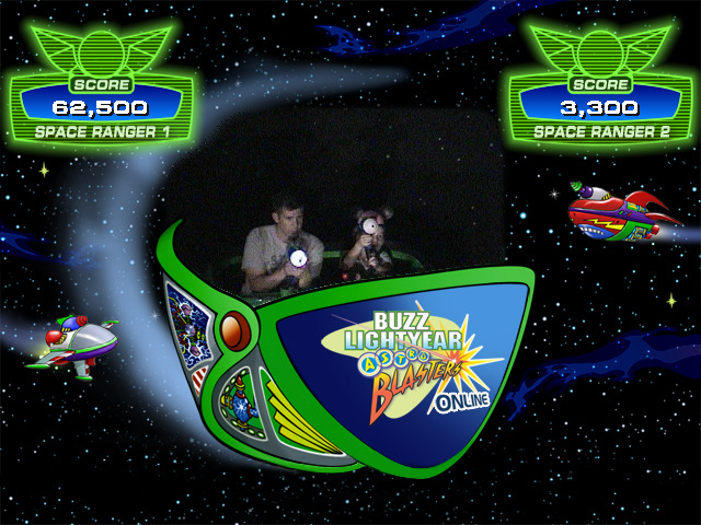 Buzz Lightyear Ride at Disneyland!