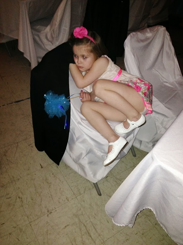 Birthday girl was exhausted after dancing all night!